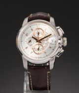 Hamilton 'Railroad'. Oversize men's chronograph, steel with date, c. 2011
