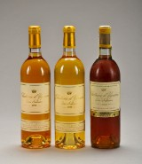 3 fl. Chateau d`Yquem i årgang 1966 - 1995 - 1998 Sauternes.