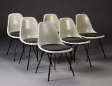 Charles Eames. Seks skalstole, model DSX (6)