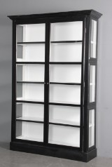 Display cabinet, black paint finish