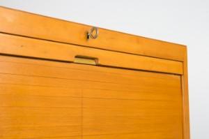 Büroschrank holz  Eka Werk Horn Lippe, Schrank / Rolladenschrank / Büroschrank, Holz ...