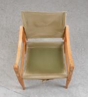 Kaare Klint. Safari stol med stel af ask, betræk af kanvas