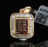 Diamond pendant in 9k yellow gold 0.54 ct
