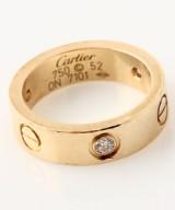 Cartier brillant LOVE ring af 18 kt. guld, i alt ca. 0.21 ct.