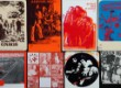 En samling plakater for danske bands som Alrune Rod og Gnags, 1960/70'erne (12)