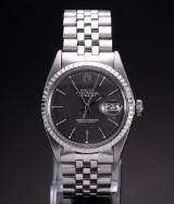 Rolex Datejust. Vintage men's watch, steel with date, c. 1971