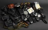 Nikon m.fl. Diverse kameraer m.m