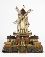 Shop window model, a mill, Ore mountains, c. 1920