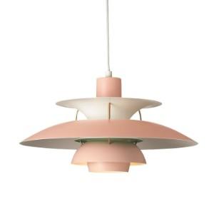 pendler - PH, Arne Jacobsen, Panton - PH-5 lampe i rosa/gr?n med Poul ...