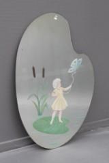 Spejl med bemaling