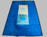 John Günther tæppe, varierende blå nuancer, 510 x 310 cm