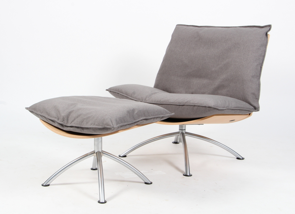 Tom Stepp for MakeNordic, Lænestol samt skammel model Primetime(2)