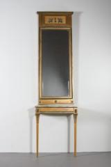 Spegel med konsolbord i gustaviansk stil (2)