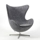 Arne Jacobsen. Lounge chair, 'The Egg' Model 3316, upholstered in Raf Simon's wool from Kvadrat