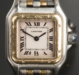 Cartier Panthère ladies' wristwatch, steel and gold