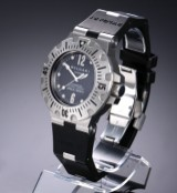 Bvlgari. 'Diagono Professional Diver'. Automatic men's watch in steel with date display, 1990s