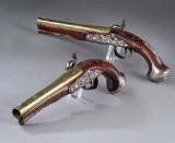 Et par sølvbeslåede London pistoler af Wilson ca. 1760