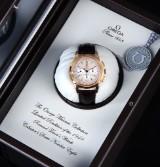 Omega 'Racent Timer'. Men's chronograph, 18 kt. rosé gold - box + certificate 2010