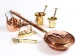 Samling messing og kobber (6)