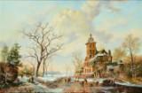 Ubekendt kunstner, 1900-tallet, efter James Baker Pyne, olie på lærred, vinterlandskab