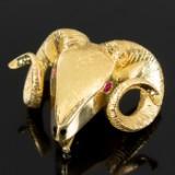 750er Gold Anhänger / Brosche
