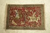 Kleiner Seidenteppich 57 x 83cm