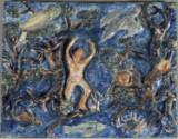 Diverse kunstnere. En samling diverse litografier, tryk, malerier og relieffer. (18)