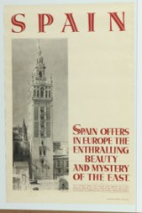 Spain, Offers In Europe The Enthralling Beauty And Mystery Of The East. Vintage rejseplakat.
