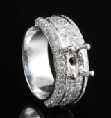 18kt handmade diamond open ring approx. 1.90ct