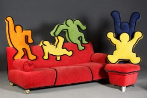 Bretz Sofa Und Sessel Mit Motiven Von Keith Haring Lauritz Com