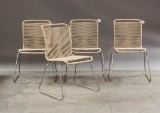 Verner Panton. Four chairs, model VP ONE, 'latte' (4)