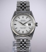 Vintage Rolex 'Datejust' men's watch, steel, silver-coloured dial, c. 1961