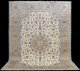 Oriental carpet, pale Keshan, 405x295 cm