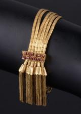 Italiensk armbånd af 18 kt guld