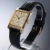 Patek Philippe. Vintage men's watch, rectangular case, 18 kt. gold, c. 1958