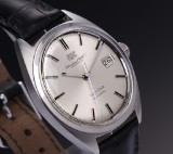 IWC 'Yacht Club'. Vintage men's watch, steel with silver-coloured dial, 1970s