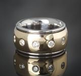 Brilliant-cut diamond ring, gold, bicolour, approx. 1.21 ct.