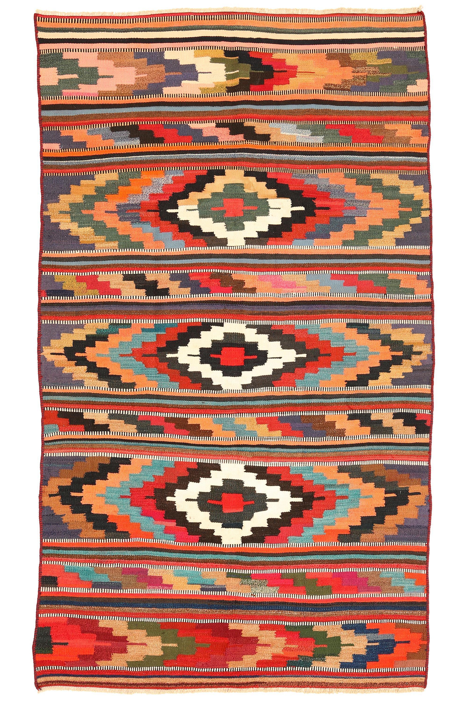 Persisk Harsin Kelim, 325 x 190 cm - Persisk Harsin Kelim, nordvest Persien. Uld på bomuld. 325 x 190 cm