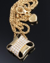 Chopard brilliant-cut diamond necklace, 18 kt. gold, total approx. 1.00 ct.