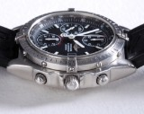 Breitling 'Chronomat Blackbird'. Men's watch, steel, with original rubber strap and clasp, c. 2000