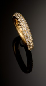 Ole Lynggaard. Love ring No. 4 with brilliant-cut diamonds