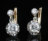 Diamond earrings in 18kt approx. 1.50ct