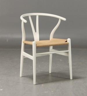 hans j wegner stol ch 24 39 y stolen 39 vit. Black Bedroom Furniture Sets. Home Design Ideas
