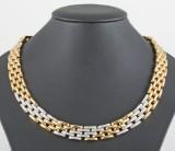 Diamond necklace, 18kt. bi-colour gold, approx. 1.80ct.