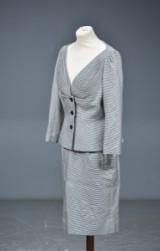 Christian Dior, spadseredragt, jakke og nederdel , ca. str. 36-38