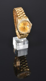 Rolex Day-Date men's watch, 18 kt. gold and diamonds