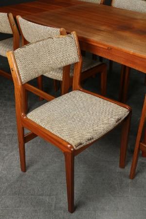 Farstrup m.fl. Spisebord samt otte stole, teak, 1950erne (9) Denne ...
