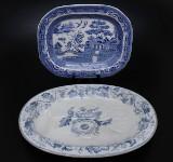Stekfat, 2 st, troligen England, 1900-talets början