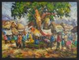 Ubekendt Kunstner, akryl på lærred, motiv fra Bali