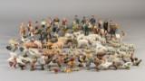 Stor samling Elastolin / Lineol dyr og figurer (121)